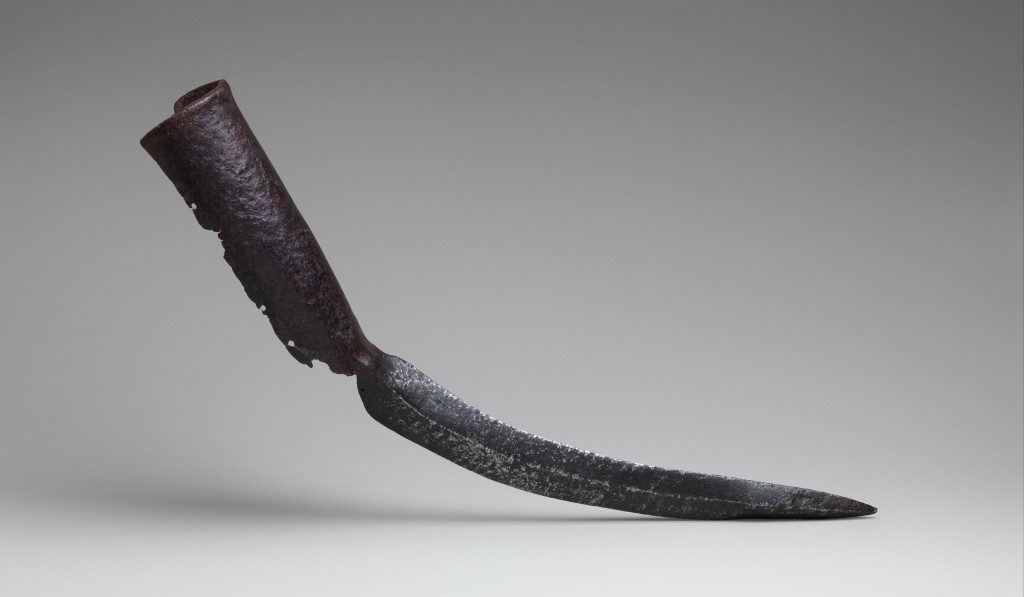 Elephant Sword, 15th–17th century Indian, Iron or steel; L. 24 in. (61.2 cm); Wt. 5 lb. 3 oz. (2362 g) The Metropolitan Museum of Art, New York, Gift of Jeri Garbaccio, in honor of Donald J. La Rocca, 2015 (2015.103) http://www.metmuseum.org/Collections/search-the-collections/679021