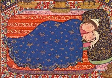 miniature of two in bed